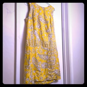 Vintage mod yellow mini-dress